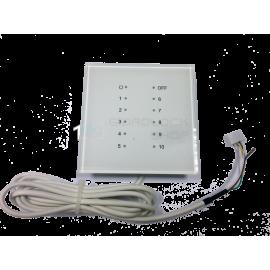 Выносной блок радиоприемника с индикацией радиодатчиков, белый (до 10 радиодатчиков на каждый блок)